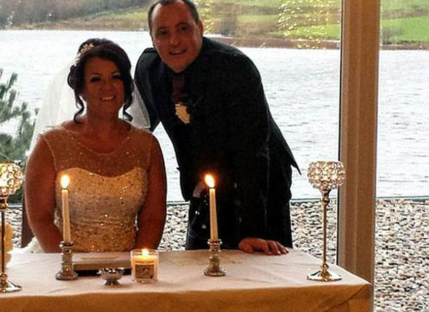 Martin Colquhorn and his new brideMichelle