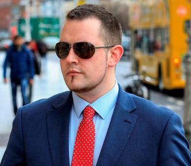 Gary Davis, of Kilpedder, Co. Wicklow, at the High Court PIC: COURTPIX