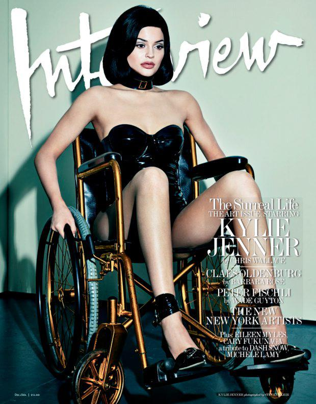 Kylie Jenner in a wheelchair for Interview magazine
