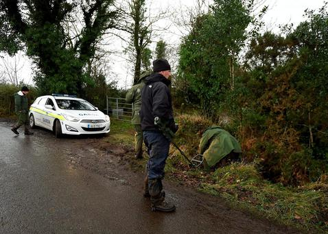 Gardaí uncovered the haul of weapons in Scotstown, Co Monaghan