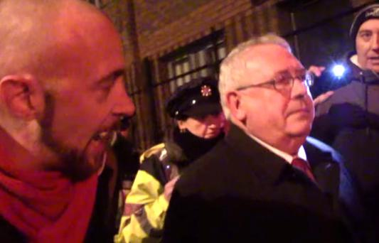 Roving reporter Andy the Revolutionist tries to question Labour TD Joe Costello