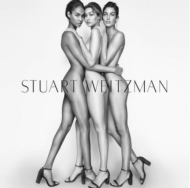 Joan Smalls, Gigi Hadid and Lily Aldridge in the new Stuart Weitzman campaign
