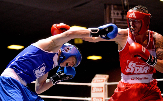 Steven Donnelly, left, has become the fourth Irish boxer to qualify for the Rio Olympics. Picture credit: Paul Mohan / SPORTSFILE