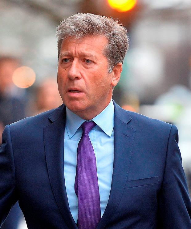 DJ Neil Fox arriving at Westminster Magistrates Court in London