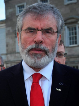 Gerry Adams has refused to rule out entering a coalition with Fianna Fail