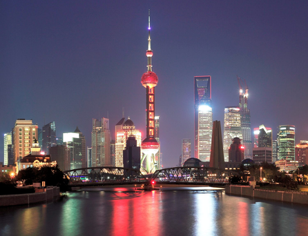 'The spectacular, ever-changing skyline of Shanghai is something to behold' and is an indication of China's success