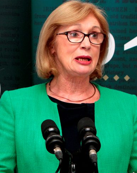 Education Minister Jan O'Sullivan,TD , speaking at the launch the Ireland 2016 Schools Programme at the Pearse brothers' former school. yesterday.Pic Tom Burke 22/9/2015