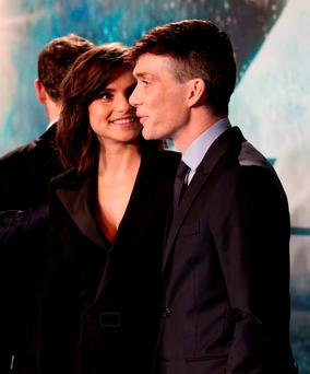 Cillian Murphy and Charlotte Riley arriving for the European premiere of In the Heart of the Sea at the Empire, Leicester Square in London.