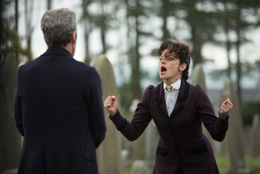 Peter Capaldi as The Doctor, Michelle Gomez as Missy