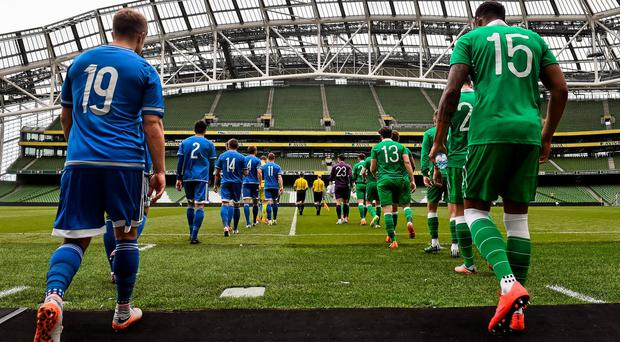 The two teams of Northern Ireland and the Republic of Ireland