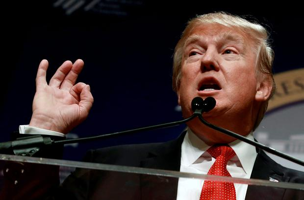 Republican presidential candidate Donald Trump speaks at the Republican Jewish Coalition's Presidential Forum in Washington December 3, 2015 Credit: Yuri Gripas (REUTERS)