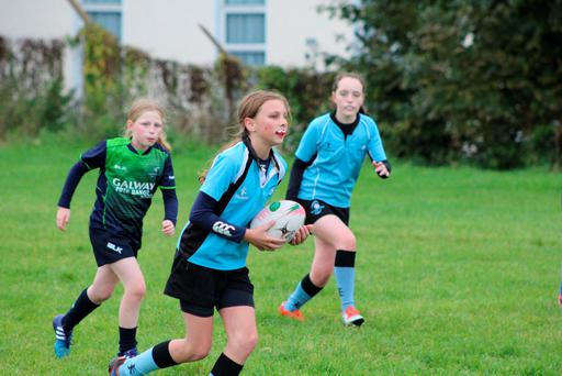 Galwegians' minis in action at a recent blitz