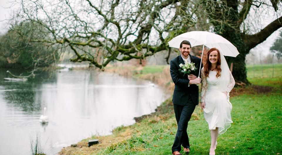 Ronan and Claire celebrated their festive wedding at festive wedding at Kilshane House.