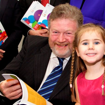 At the launch of the 'Non-Parental Childcare and Child Cognitive Outcomes at Age Five' report were Minister James Reilly and Holly Coyle