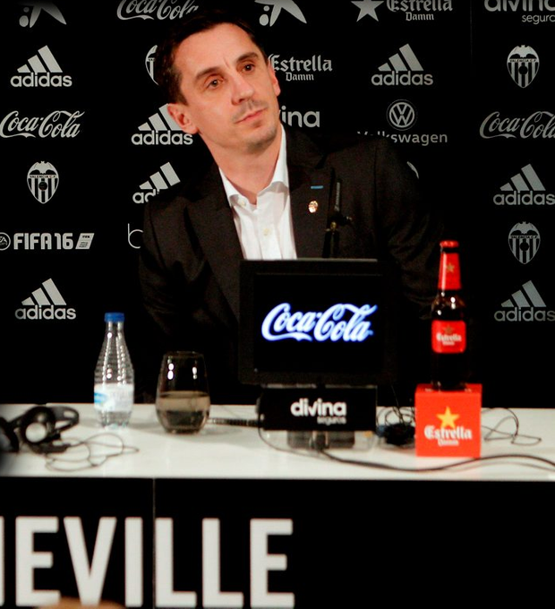 Gary Neville is unveiled as Valencia boss