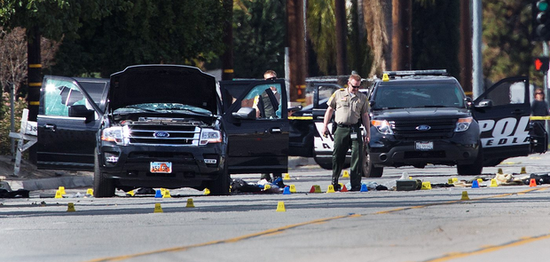 San Bernardino Avenue, the scene of the mass shooting