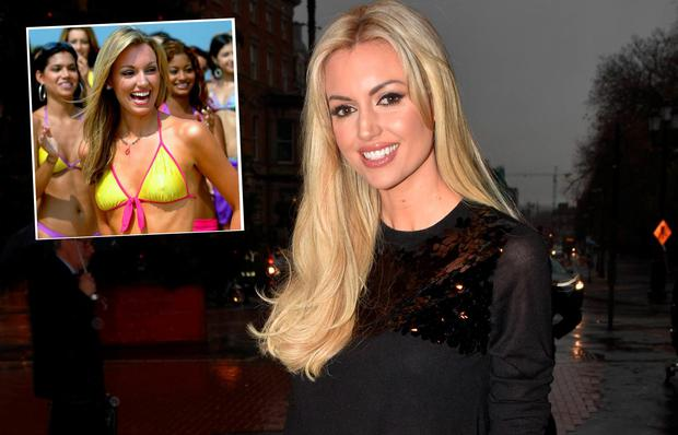 Rosanna Davison in 2015 and (inset) at Miss World in 2003