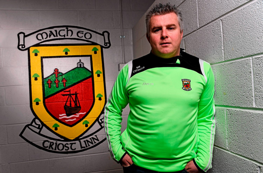 Stephen Rochford who was introduced as the new manager of the Mayo senior football team. Elverys MacHale Park, Castlebar, Co. Mayo. Picture credit: David Maher / SPORTSFILE