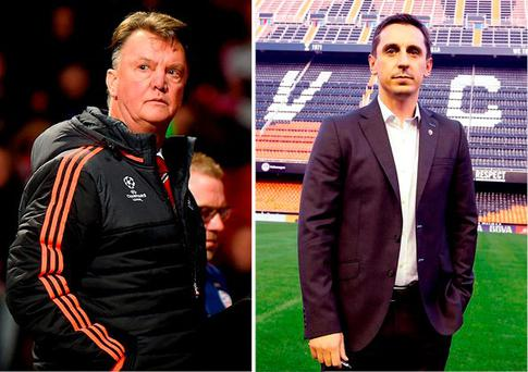 Louis van Gaal says Gary Neville will need a lot of luck