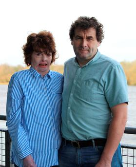 Joanne McMahon who sustained serious burns when she was lighting a Bain Marie; with husband Mike. Pic: Press 22