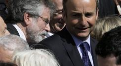 Comments from Sinn Féin's Gerry Adams have posed a coalition conundrum for Fianna Fáil leader Micheál Martin