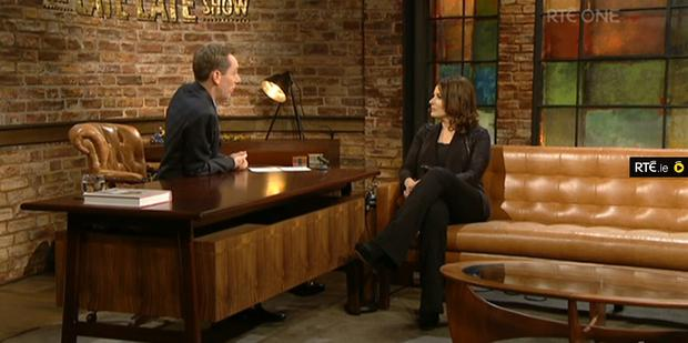 Nigella Lawson and Ryan Tubridy on The Late Late Show