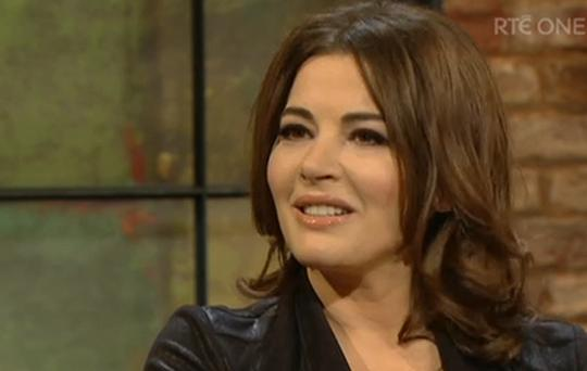 Nigella Lawson on the Late Late Show