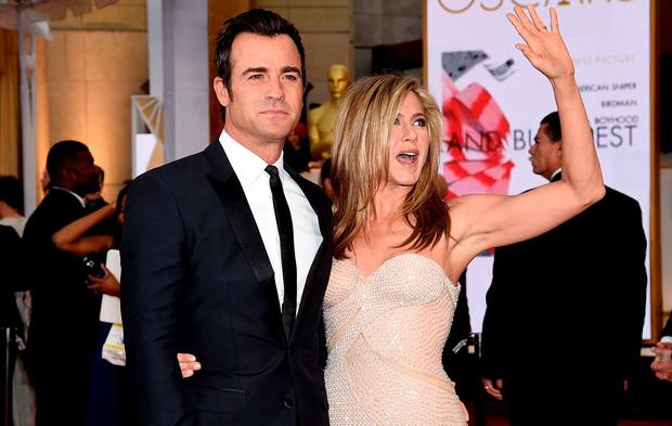 Justin Theroux and wife, actress Jennifer Ansiton