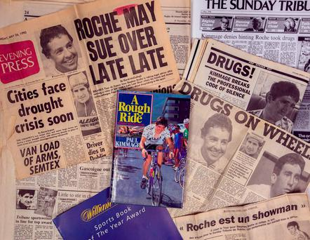 'A Rough Ride' was first published in May 1990 and the thing that stands out is a front page of the Evening Press.