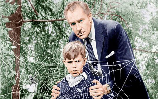 Petrified: A young Charles Herbert with Vincent Price in The Fly