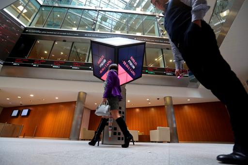 DCC is up with the well-heeled elite of the FTSE 100, above, which is headquartered in Paternoster Square in London