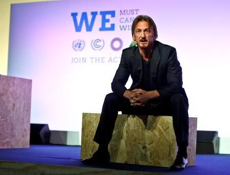 TEN-YEAR PLAN: Actor Sean Penn called on leaders to save the forests at the UN climate conference in Paris
