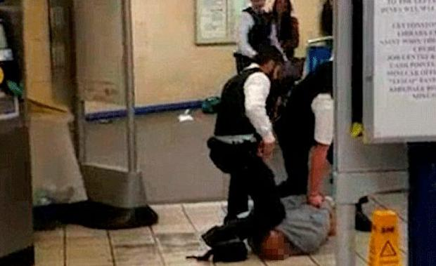 The Leytonstone attacker is arrested after being Tasered