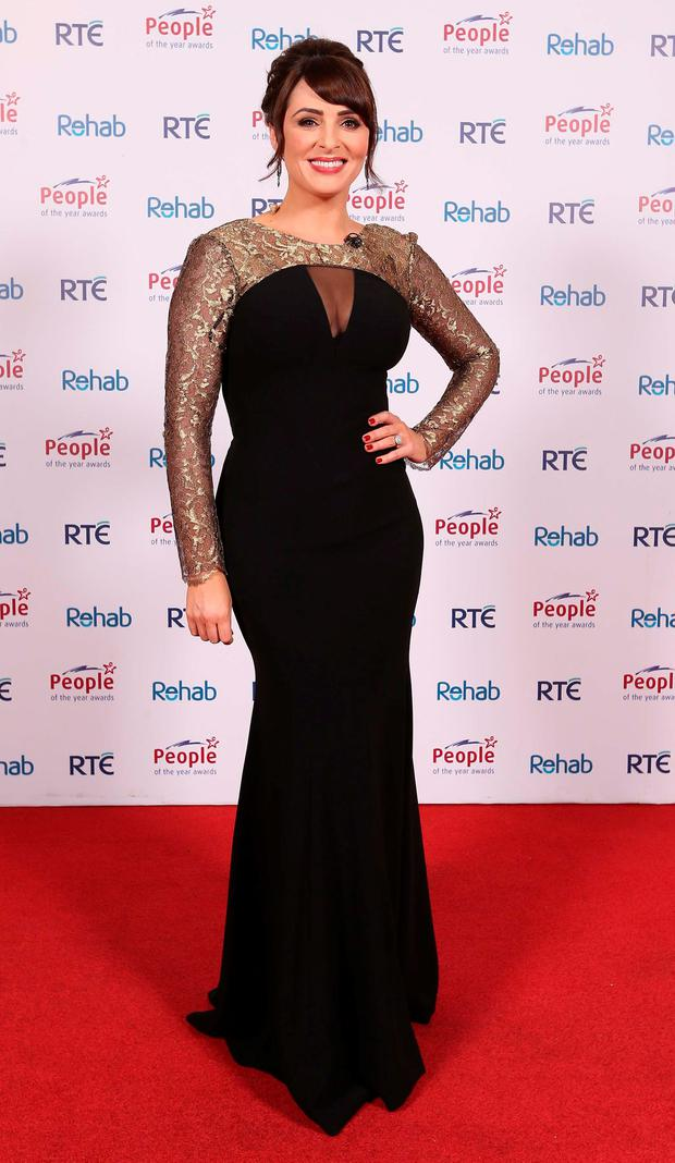 Grainne Seoige at the 2015 People of the Year Awards organised by Rehab and held in RTE. Picture: Robbie Reynolds