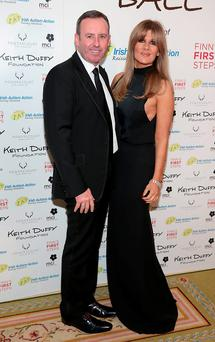 Denis Flannelly and Valerie Roe pictured at the Keith Duffy Foundation Charity Ball at Powerscourt Hotel in Enniskerry to raise funds for Irish Autism Action and Finn's First Steps Charities. Picture: Brian McEvoy