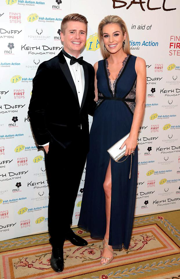 Brian Ormond and Pippa O'Connor pictured at the Keith Duffy Foundation Charity Ball at Powerscourt Hotel in Enniskerry to raise funds for Irish Autism Action and Finn's First Steps Charities. Picture: Brian McEvoy