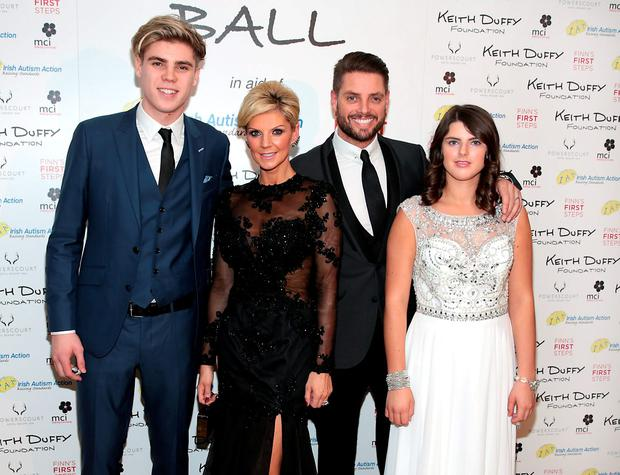 Jay Duffy, Lisa Duffy, Keith Duffy and Mia Duffy pictured at the Keith Duffy Foundation Charity Ball at Powerscourt Hotel in Enniskerry to raise funds for Irish Autism Action and Finn's First Steps Charities. Picture: Brian McEvoy