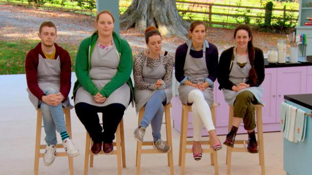 The five final bakers on The Great Irish Bake Off episode 7