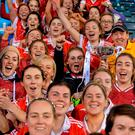 Donaghmoyne players celebrate after winning the All-Ireland Ladies SFC Club title at Parnell Park yesterday