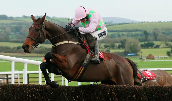 Djakadam and Ruby Walsh clear the last en route to winning the John Durkan Chase at Punchestown