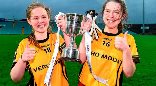 Twin sisters Roisin O'Doherty (L) and Meadbh O'Doherty of Dunboyne