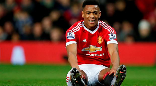 Manchester United's Anthony Martial had a frustrating game