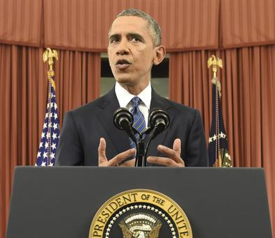 President Barack Obama speaks to the nation from the Oval Office