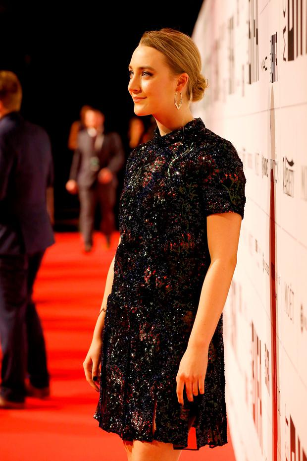 Saoirse Ronan arrives at The Moet British Independent Film Awards 2015 at Old Billingsgate Market on December 6, 2015 in London, England. (Photo by Tristan Fewings/Getty Images)