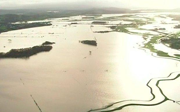 Storm Desmond: Aerial footage shows extent of flooding damage in Cumbria Photo: ITN