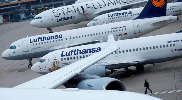 File photo of Lufthansa airplanes