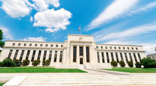 Federal Reserve Building in Washington, DC, United States. Art Deco/Neoclassical style.
