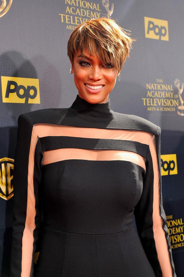 Host Tyra Banks attends The 42nd Annual Daytime Emmy Awards at Warner Bros. Studios on April 26, 2015 in Burbank, California. (Photo by John Sciulli/Getty Images for NATAS)