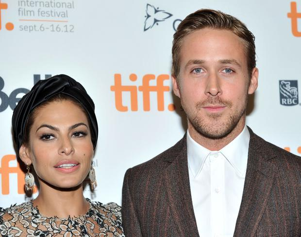 Actors Eva Mendes and Ryan Gosling attend