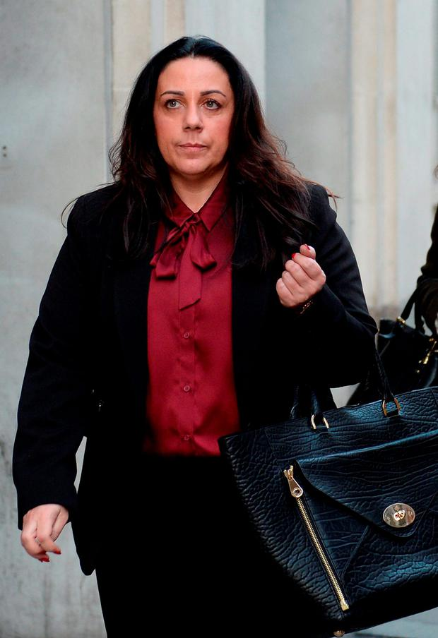 Susan Rodgers, the estranged wife of former Liverpool manager Brendan Rodgers, leaves the Central Family Court in London. Photo credit: Stefan Rousseau/PA Wire